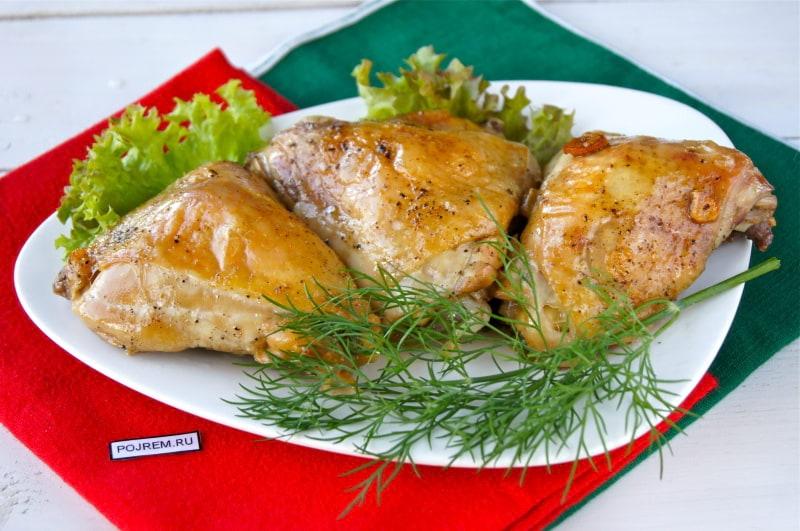 Бёдра куриные в духовке в рукаве с картошкой рецепт