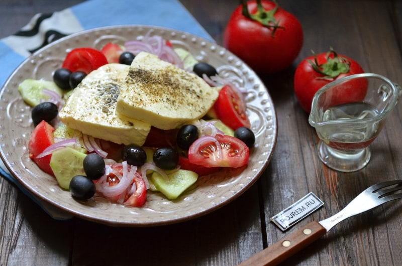 Простой греческий салат - пошаговый рецепт с фото на Повар.ру