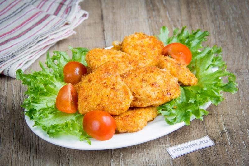фото готовой курицы в сухарях