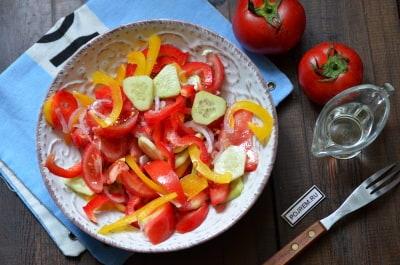 греческий салат с болгарском перцем рецепт