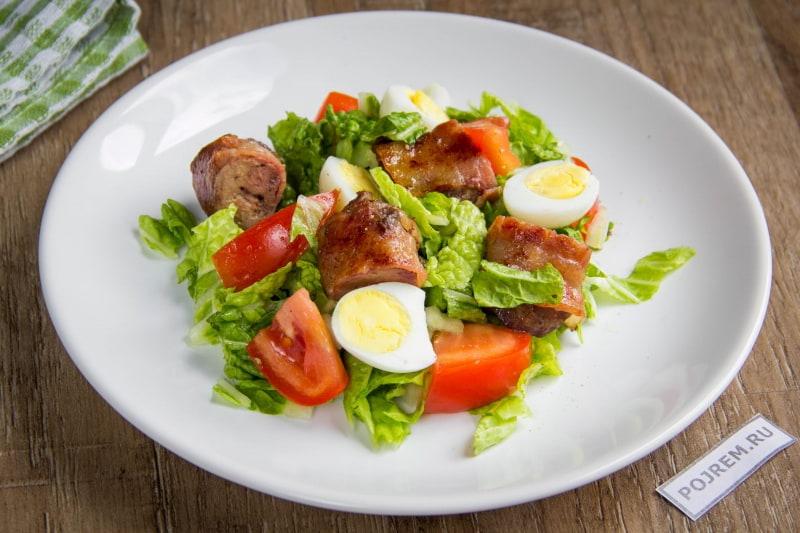 рецепты салатов с куриной печенью с пошаговым фото