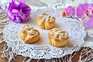 Печенье в духовке из творога с сахаром