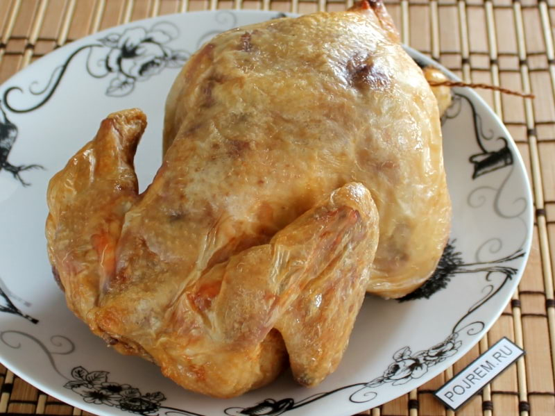 курица на соли в духовке