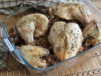 Курица с гречкой в духовке