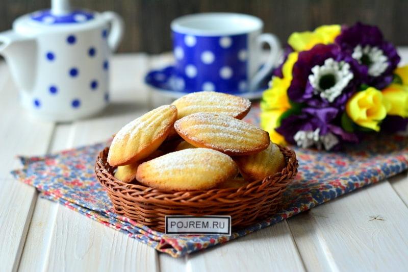 вкусное печенье мадлен
