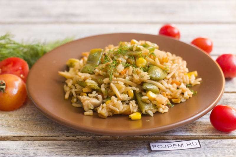 ризотто рецепт классический с овощами и курицей с фото