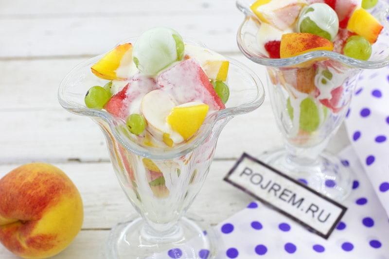 салаты из фруктов с фото и рецептом