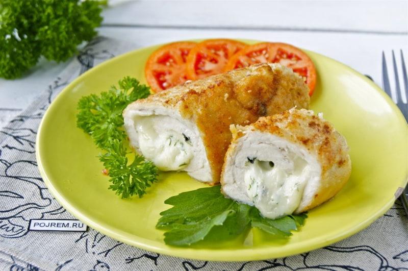 куриные рулетики с сыром и грибами по шаговый рецепт