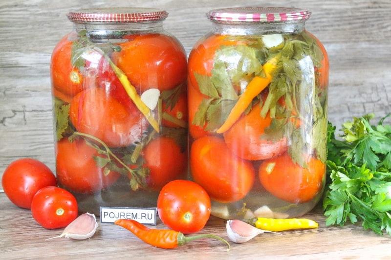 Рецепты консервации помидор пошагово