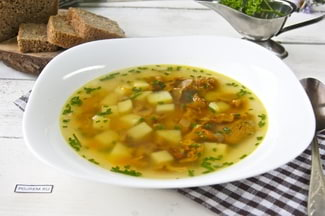 Суп из лисичек