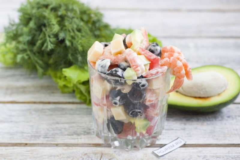 как приготовить салат с креветками салат рецепт