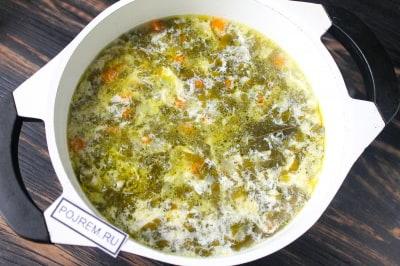 Суп с сырым яйцом