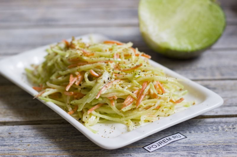 Какой можно приготовить салат из зеленой редьки