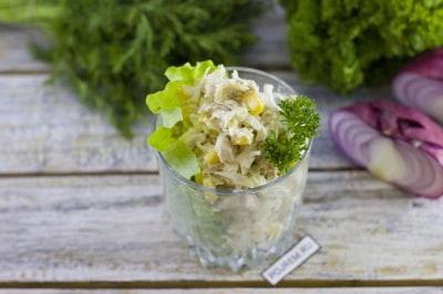 королевский салат с грибами и ананасом рецепт