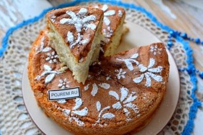 Пирог шарлотка с яблоками рецепт на кефире в мультиварке