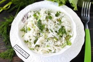 Салат из черной редьки с растительным маслом
