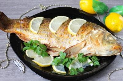 сазан запеченный в духовке пошаговый рецепт с фото