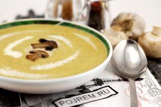 Крем-суп из шампиньонов с картофелем и сливками