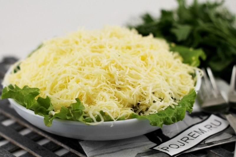 опята под шубой салат рецепт