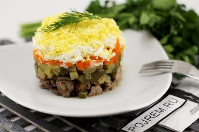 салат коррида пошаговый рецепт с фото