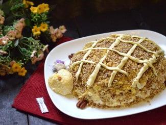 Салат «Черепаха» с курицей и грецкими орехами