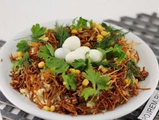 Салат «Перепелиное гнездо»