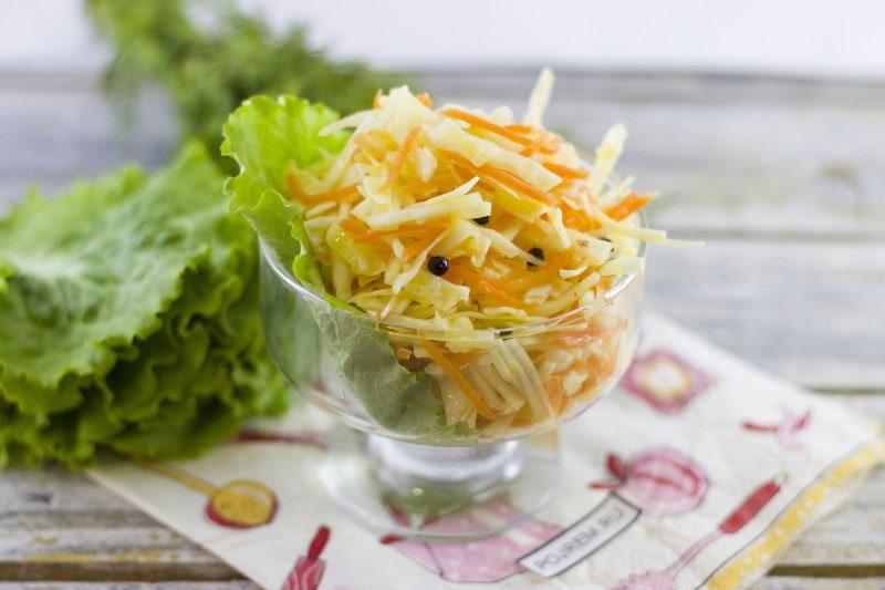 салат капуста быстрого приготовления рецепт с фото