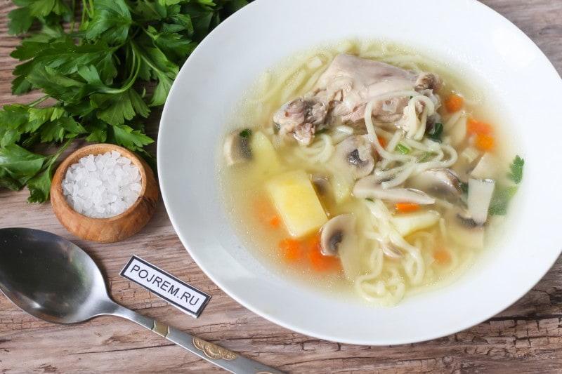 Куриный суп с вермишелью для годовалого ребенка