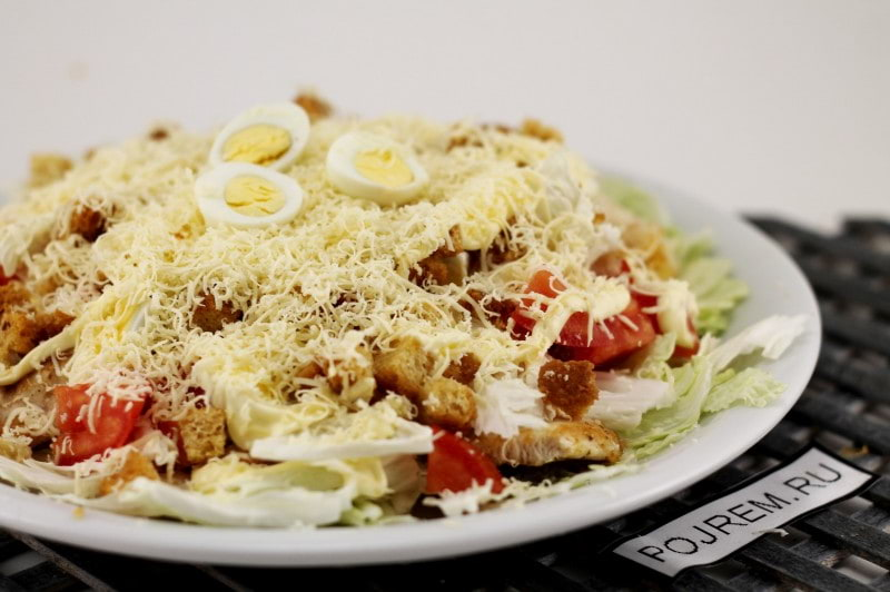 салат цезарь с филе рецепт с фото