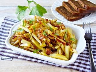 Картошка жареная на сале