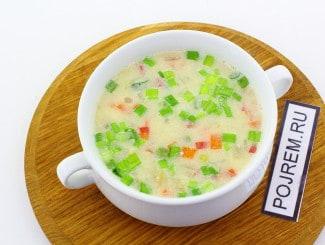 Cырный суп с плавленым сыром