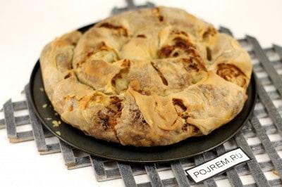 быстрый пирог с мясом и картошкой на кефире рецепт с фото