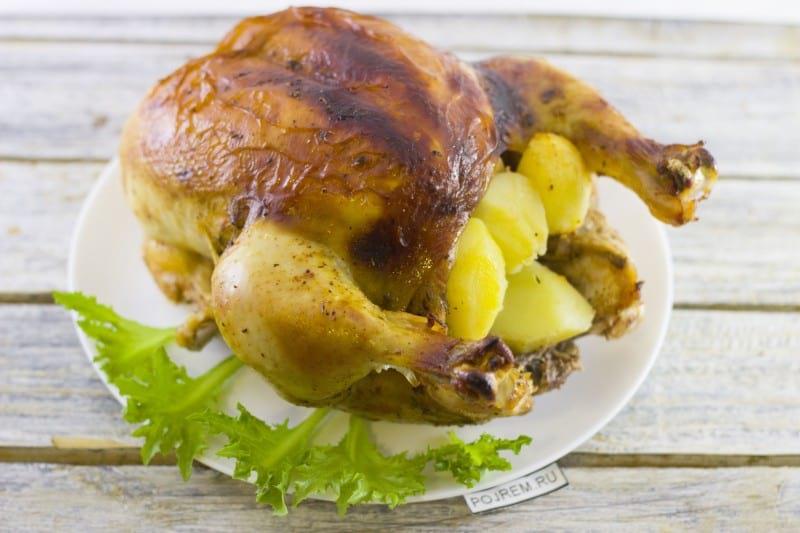 рецепт курицы с картошкой в духовке