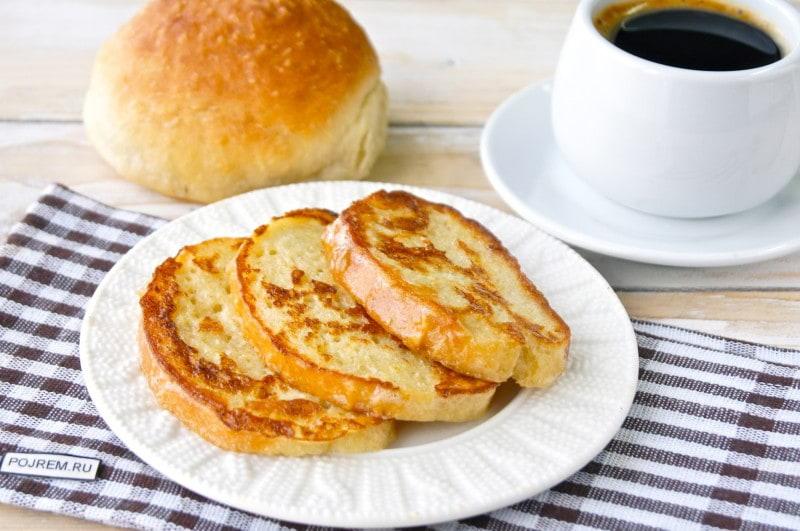 жареный хлеб в яйце