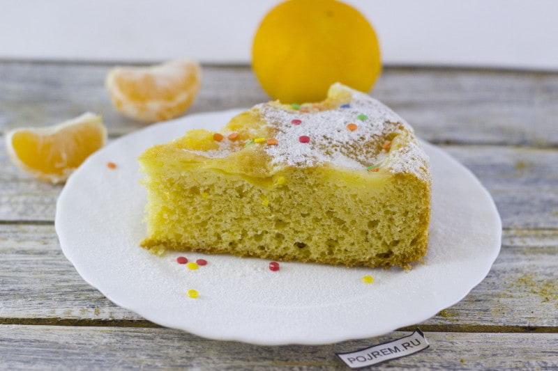 Пирог из мандаринов рецепт с в духовке 174