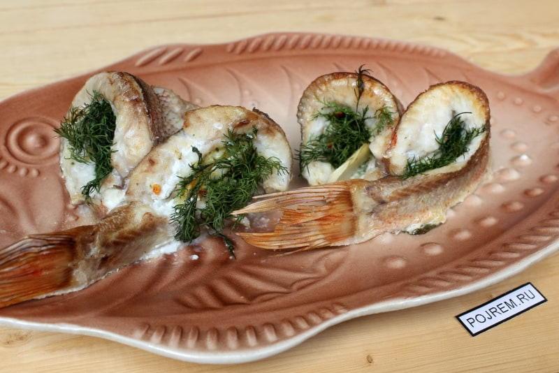 жареный морской окунь в духовке рецепты
