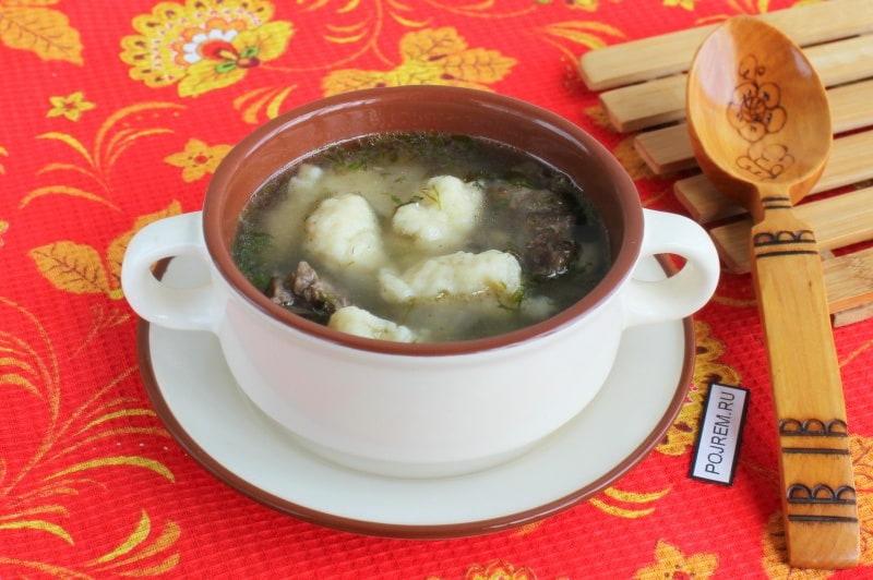 суп с клёцками сырными пошаговый рецепт с фото