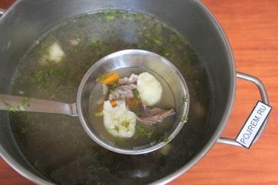 суп мясной с клецками рецепт с фото пошаговый