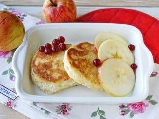 Сырники с яблоками