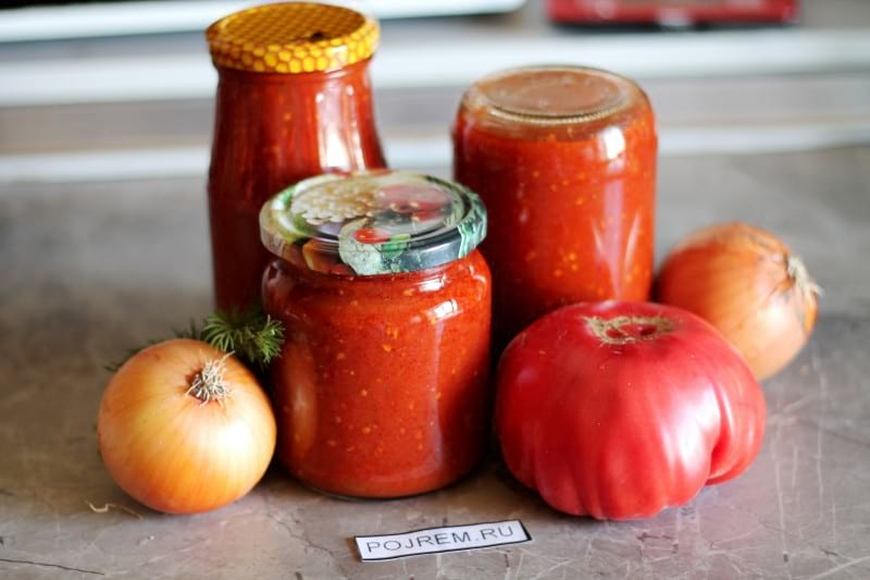 подливка из томатов на зиму