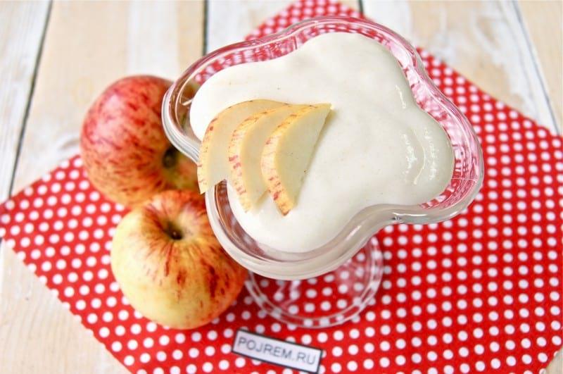 рецепт яблочный мусс на манной крупе