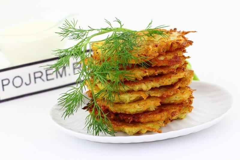 драники с картошкой и сыром