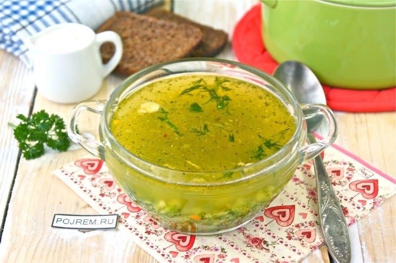 суп куриный с брокколи