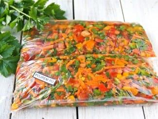 Заправка для супа из помидор, моркови и перца на зиму (без варки)