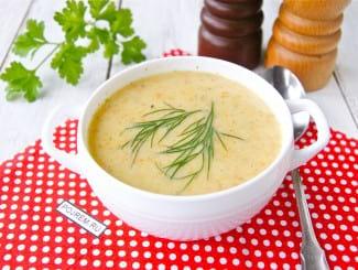 Рыбный суп-пюре с плавленным сыром за 30 минут