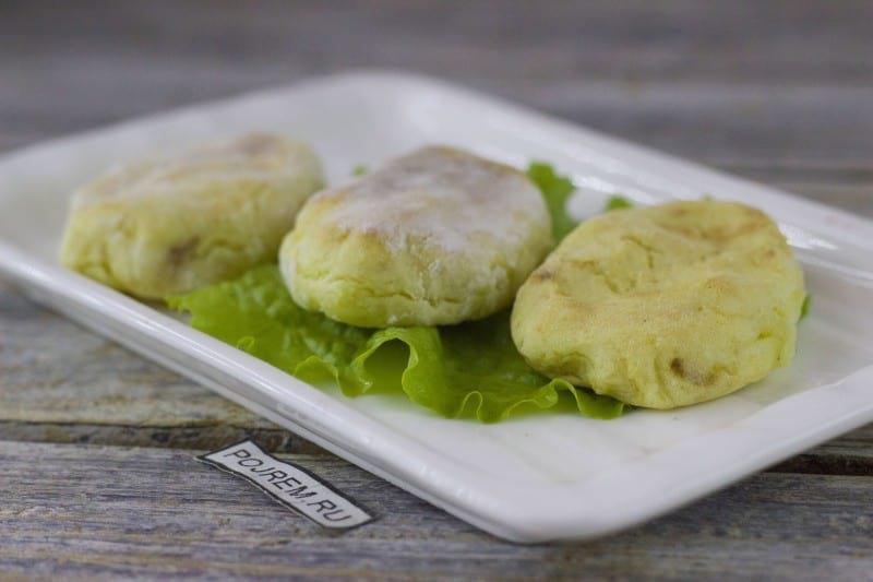 Зразы картофельные в духовке видео рецепт #3