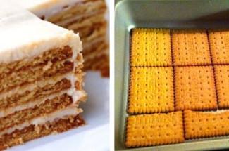 Готовлю вкусный торт без выпечки за 10 минут! Всего 3 ингредиента
